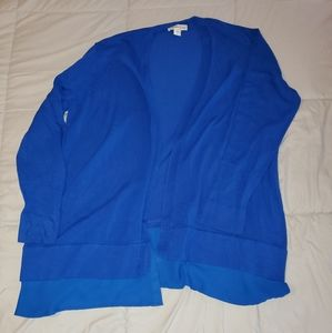 Cold water creek royal blue sweater